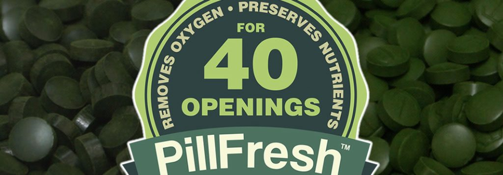 spirulina and chlorella pillfresh packaging