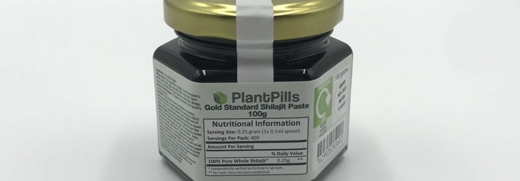 plantpills shilajit how is it packaged