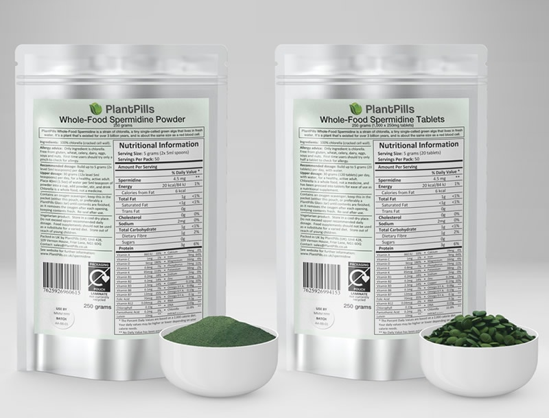 PlantPills Whole-Food Spermidine Pouch and Powder