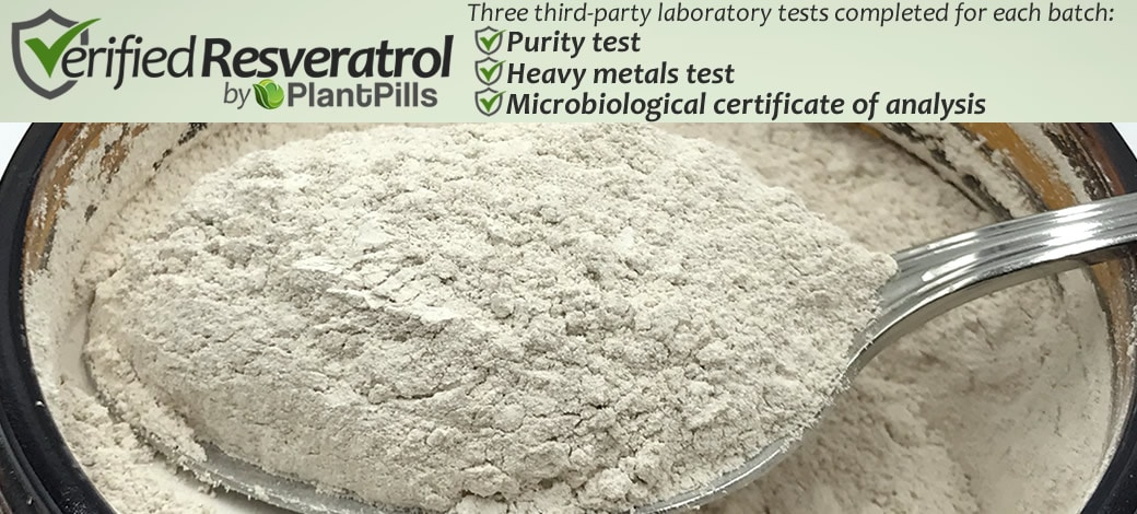 Micronized Trans-Resveratrol Powder Verified